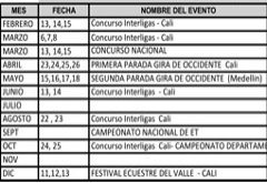 Colombian Calender 2015